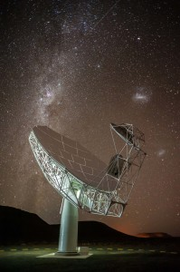 SKA Precursor - First night in the Karoo for the first MeerKAT antenna