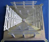 Chinese 'Square' 11-feed feed built for a Chinese Solar Radio Telescope. Dimensions 465mm x ×465mm × 185mm (h).