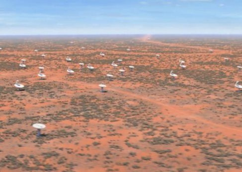 Fly by across the Australian survey and dipole array