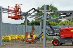 Structural steel frame erection started