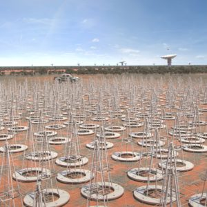 Artist's impression of the low-frequency antennas