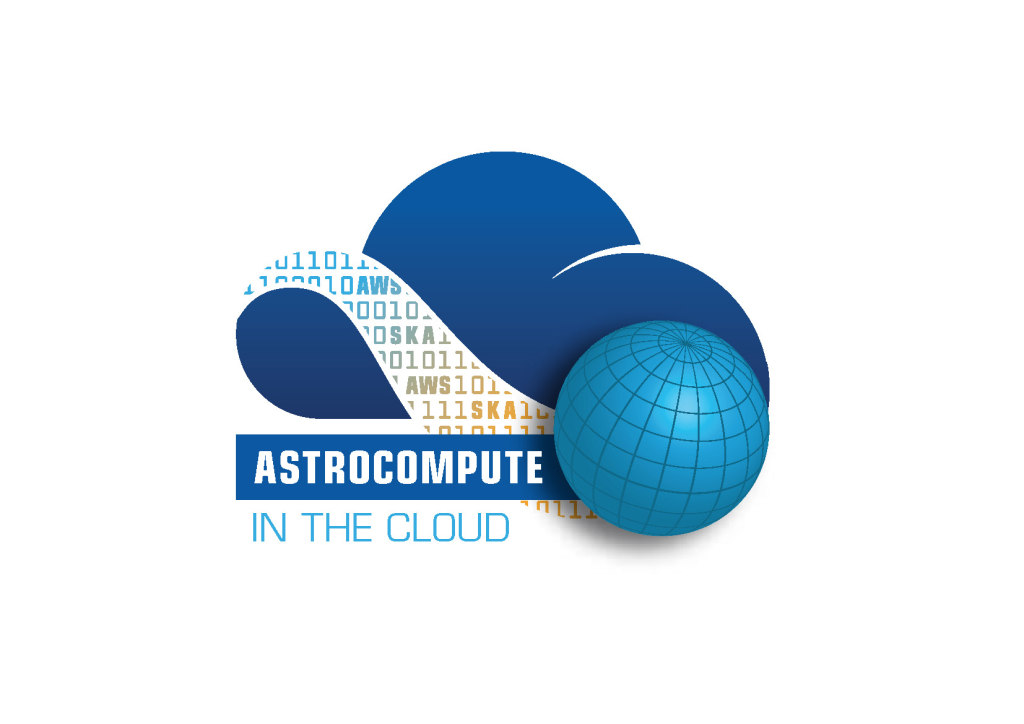 The SKA-AWS AstroCompute logo