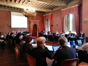 Representatives from the SKA member countries during SKA IGO negotiations at the Accademia dei Lincei in Rome.
