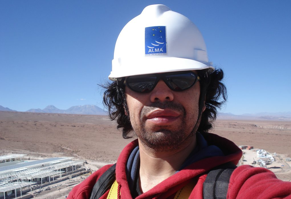 Rodrigo Olguin on site at ALMA in Chile