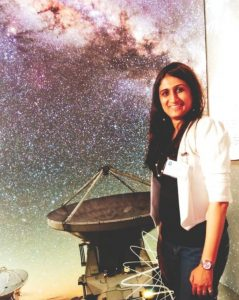 Snehal at ESO Supernova Planetarium in Germany