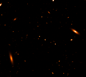 A portion of the SKA data challenge image showing star-forming galaxies