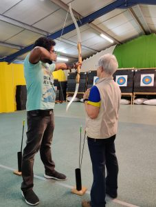 J at indoor archery centre