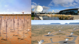 Composite image of the three SKA sites
