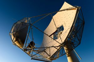 A shot of the prototype SKA-MPI dish just missing its central section
