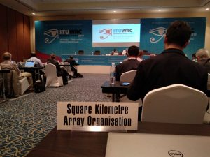 The representation of the SKAO at the ITU