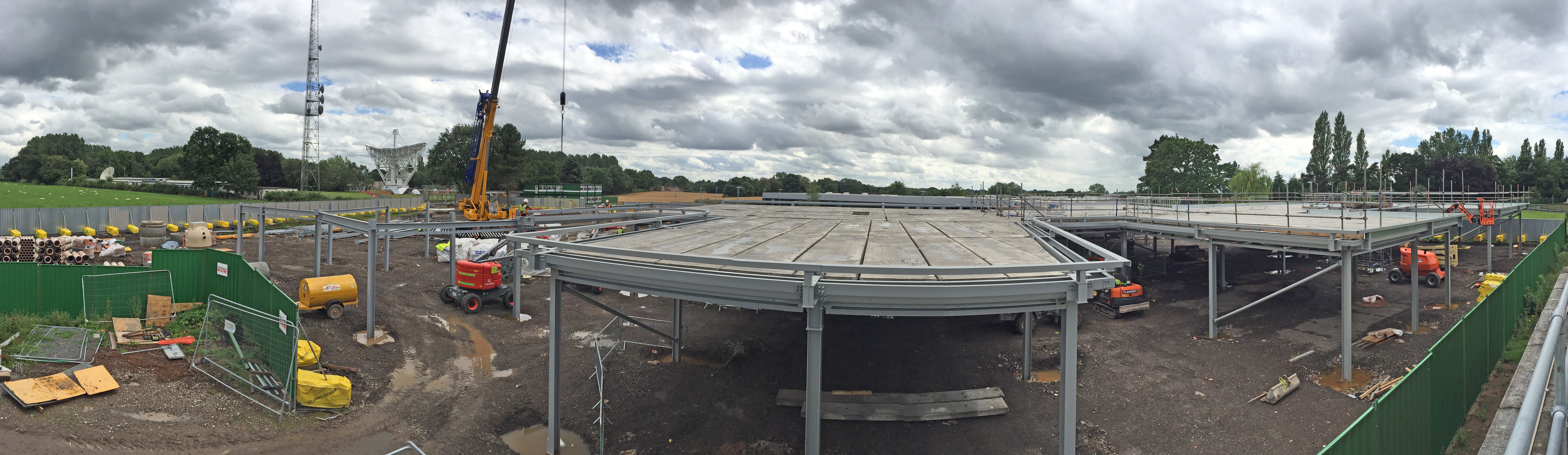 Construction panorama as of 27 July 2017