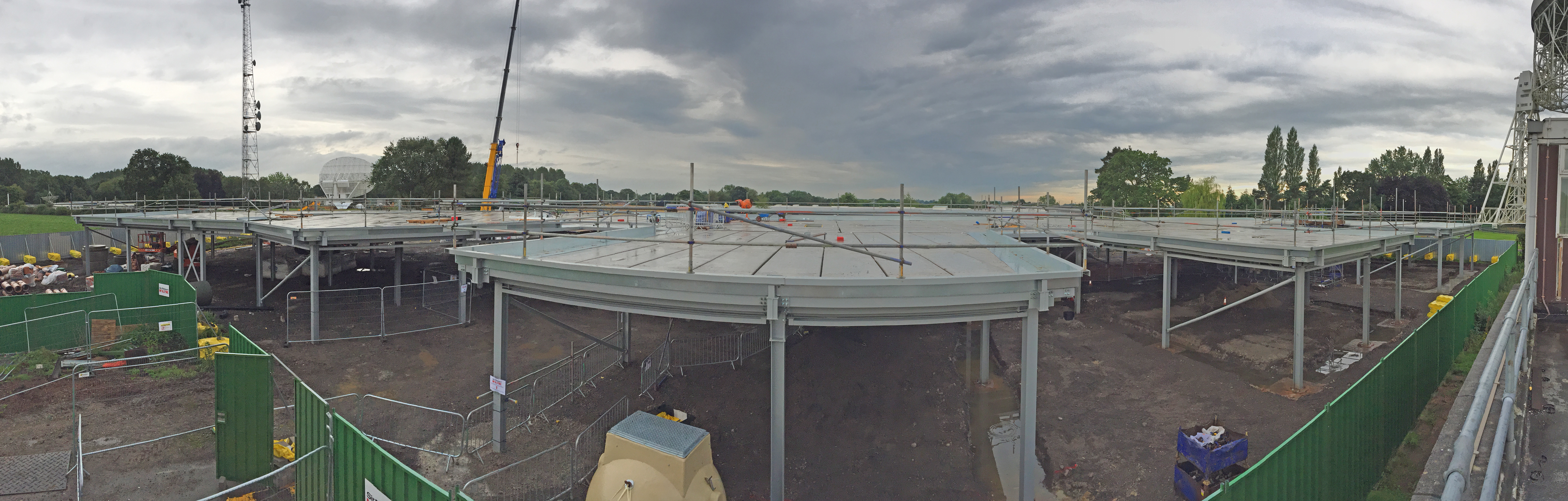 Construction panorama as of 9 August 2017